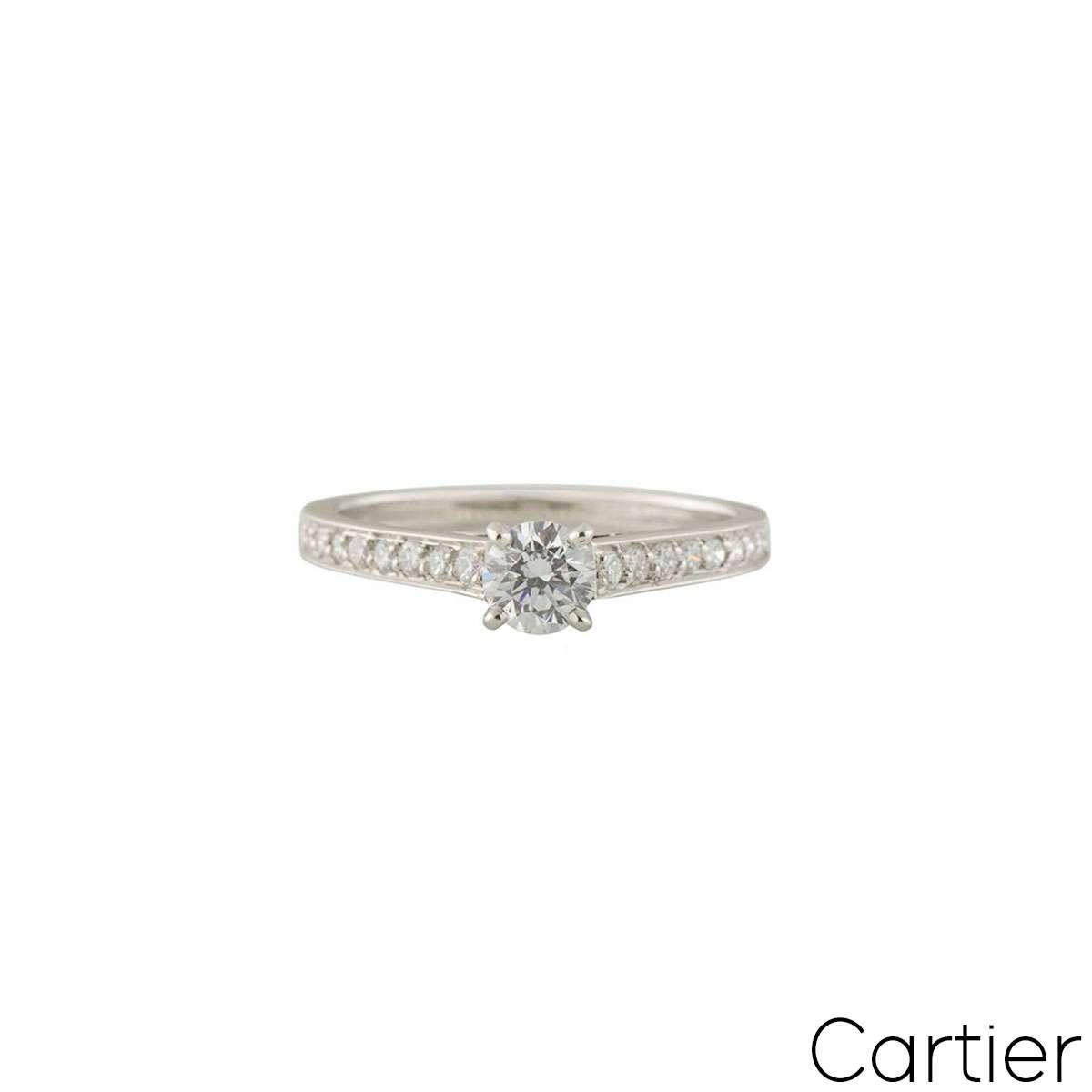 CartierPlatinum Diamond 1895 Solitaire Ring Size 47N4164647